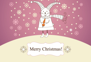 Merry Christmas Rabbit Picture for Android, iPhone and iPad
