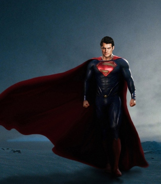 Superman In Man Of Steel Background for Nokia Asha 305