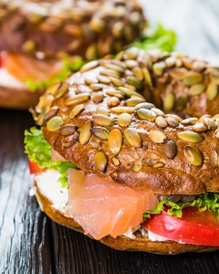 Bagel with Salmon Background for Sharp 880SH
