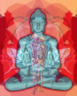 Kostenloses Buddha Creative Illustration Wallpaper für 640x960