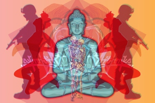 Kostenloses Buddha Creative Illustration Wallpaper für Android, iPhone und iPad