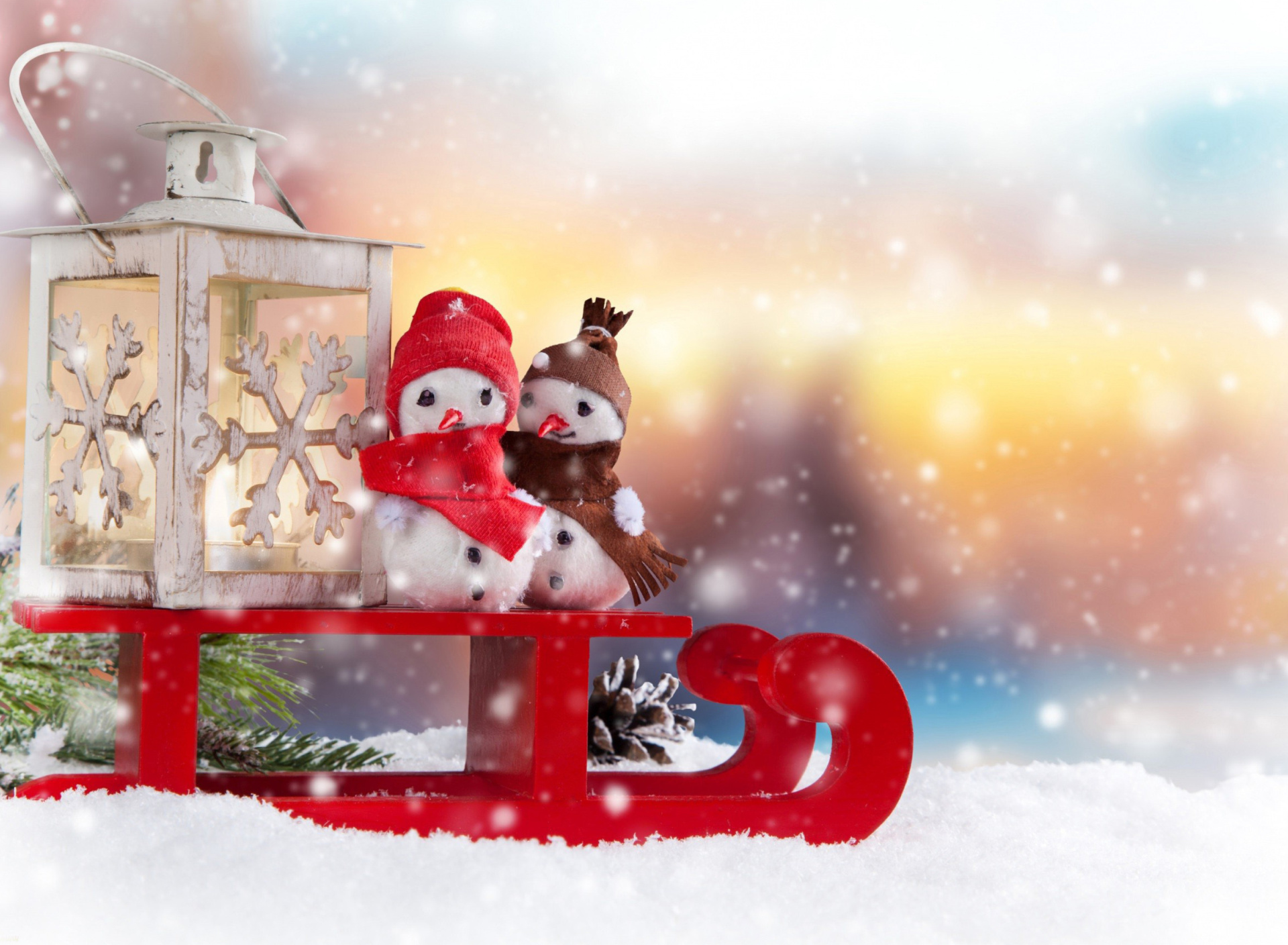 Screenshot №1 pro téma Snowman Christmas Figurines Decoration 1920x1408