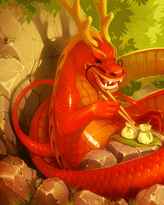 Free Dragon illustration Picture for Nokia Asha 310