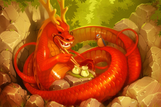 Dragon illustration sfondi gratuiti per Samsung Galaxy Note 2 N7100