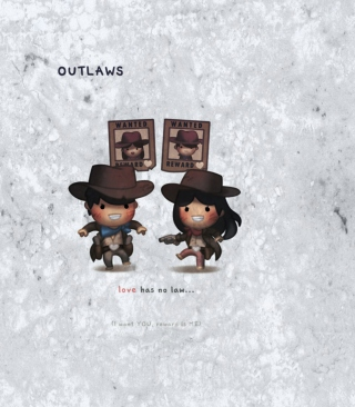 Love Is Outlaws papel de parede para celular para Nokia C-Series