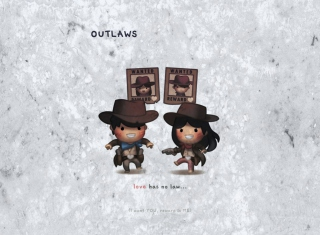 Love Is Outlaws Wallpaper for 1080x960