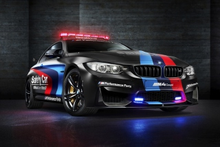 BMW M4 Coupe Police Background for Android, iPhone and iPad