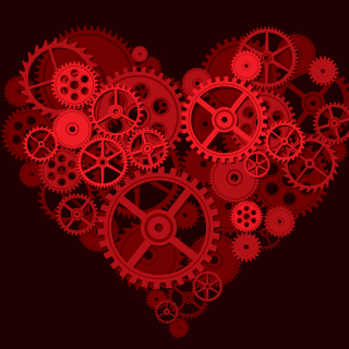 Gears Heart Background for iPad mini