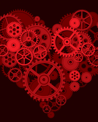 Gears Heart Background for iPhone 5S