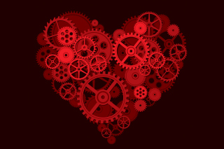 Gears Heart Background for 960x800