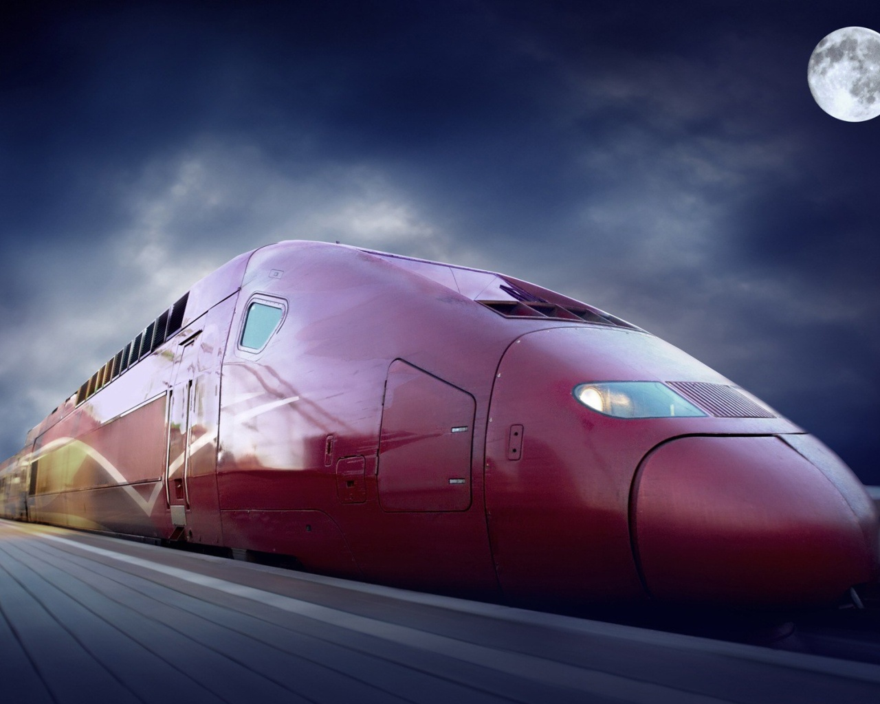 Screenshot №1 pro téma Thalys train on high speed line 1280x1024