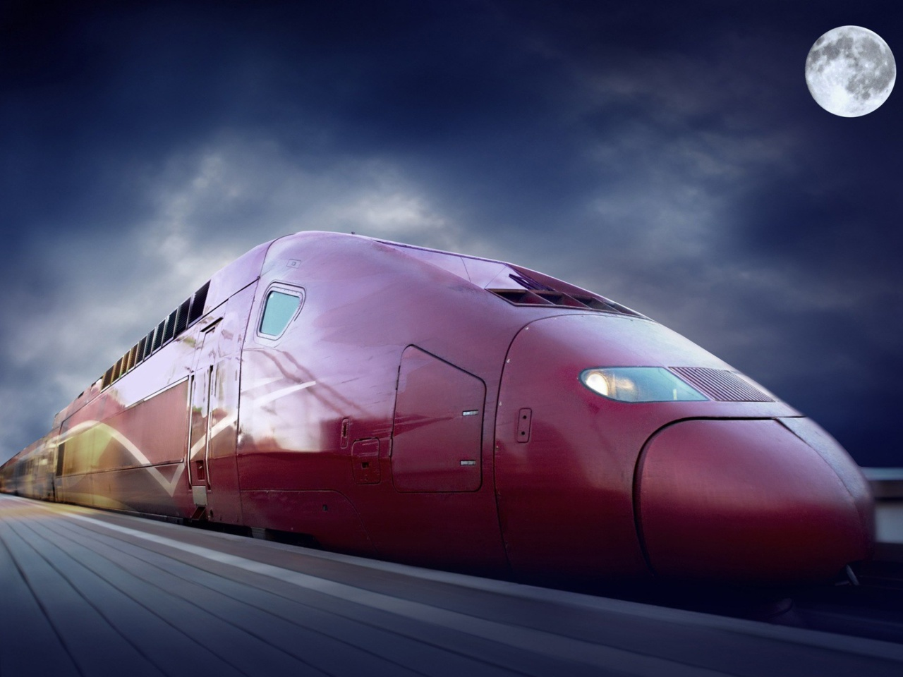 Das Thalys train on high speed line Wallpaper 1280x960