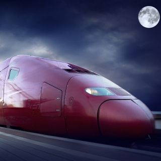Thalys train on high speed line - Obrázkek zdarma pro iPad 2