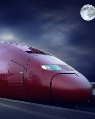 Thalys train on high speed line - Obrázkek zdarma pro Nokia C-5 5MP