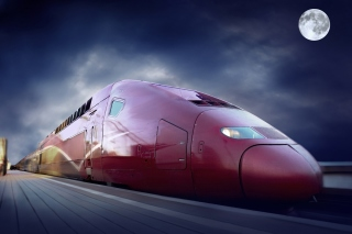 Thalys train on high speed line - Obrázkek zdarma pro Desktop Netbook 1366x768 HD
