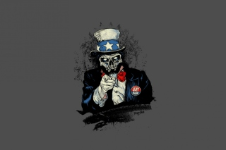 Free Uncle Sam Zombie Picture for Android, iPhone and iPad