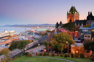 Quebec City and Port sfondi gratuiti per 1024x600