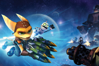 Kostenloses Ratchet & Clank Full Frontal Assault Wallpaper für 480x320