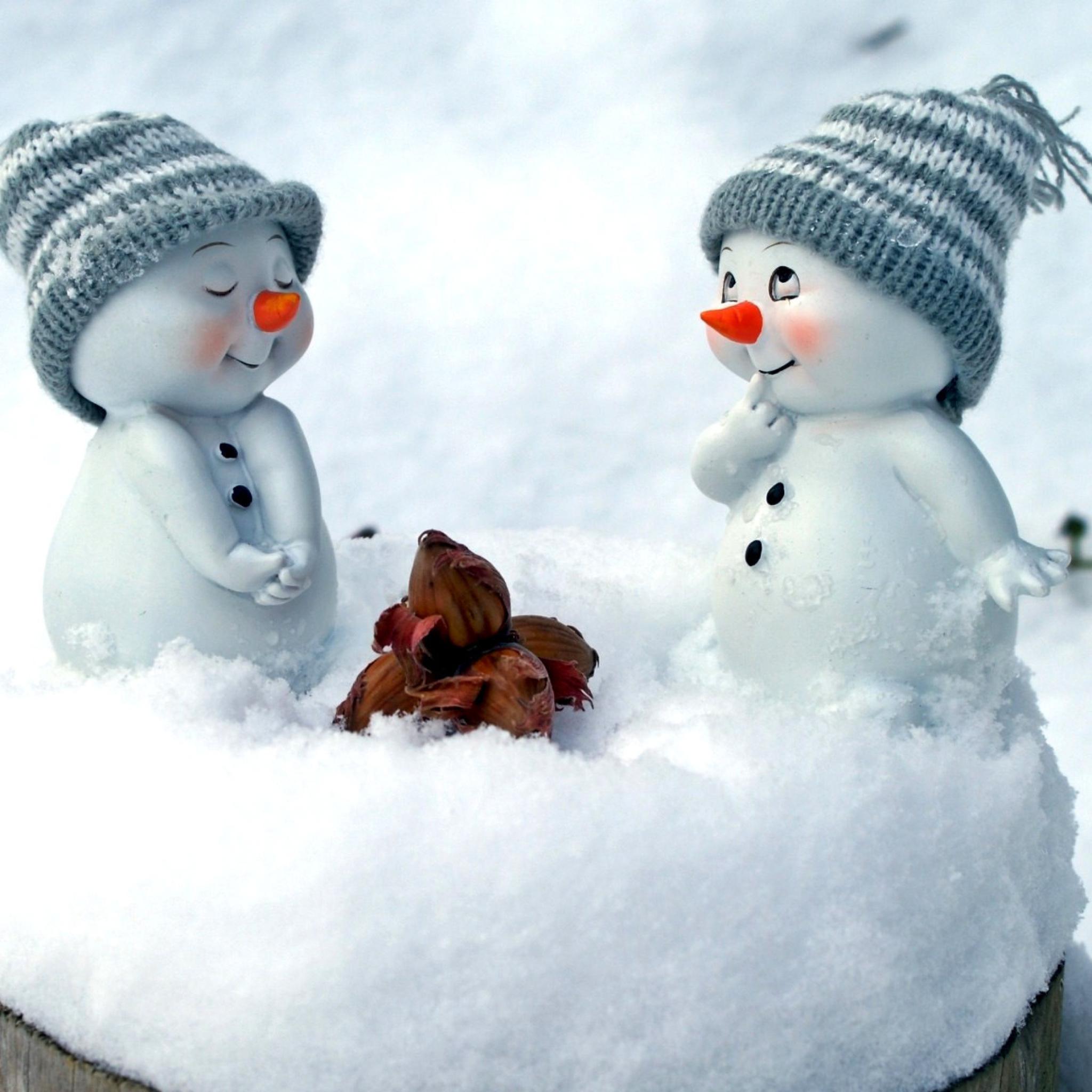 Прикольные картинки доброго зимнего утра и хорошего дня со снеговиками, открытое образование