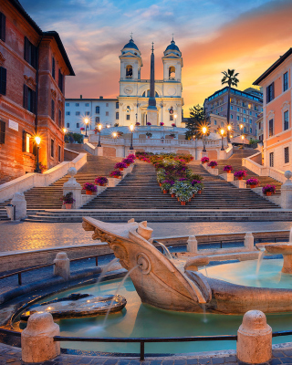 Fontana della Barcaccia and Spanish Steps Picture for Nokia C7