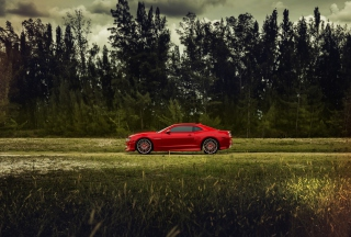 Red Chevrolet Camaro Background for Android, iPhone and iPad
