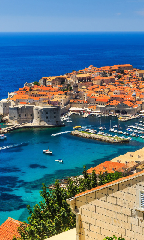 Sfondi Walls of Dubrovnik 480x800