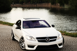 Mercedes Benz CL63 AMG Background for Android, iPhone and iPad