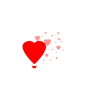 Simple Hearts Illustration Background for Nokia Asha 503