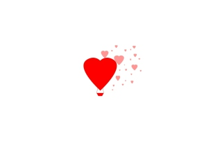 Simple Hearts Illustration Wallpaper for Nokia Asha 200