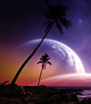 Space Island Background for HTC Titan