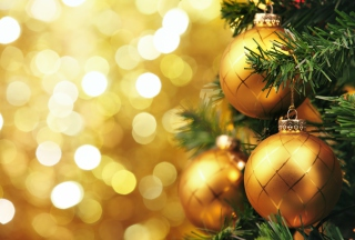 Golden Christmas Tree - Fondos de pantalla gratis