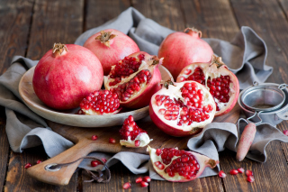 Fresh Pomegranates Background for Android, iPhone and iPad