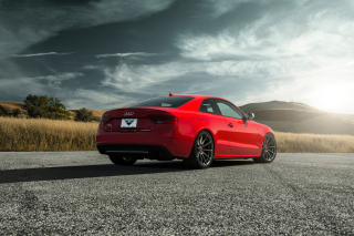 Audi S5 Red Vorsteiner 2015 sfondi gratuiti per cellulari Android, iPhone, iPad e desktop