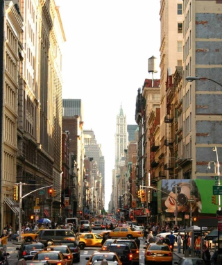 New York Streets Background for 240x320