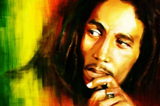 Bob Marley Painting Background for Android, iPhone and iPad