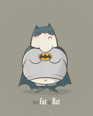 Fat Batman Wallpaper for iPhone 4