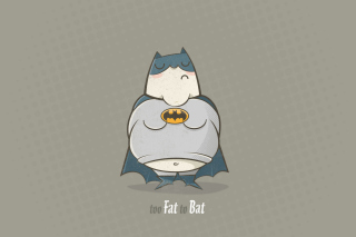 Fat Batman Background for Android, iPhone and iPad