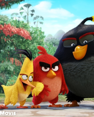 Angry Birds the Movie 2015 Movie by Rovio - Obrázkek zdarma pro iPhone 5S