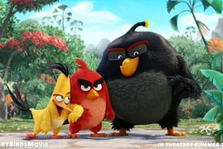 Angry Birds the Movie 2015 Movie by Rovio - Obrázkek zdarma pro LG P500 Optimus One
