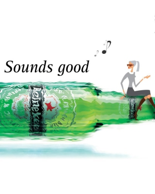 Картинка Heineken, Sounds good для телефона и на рабочий стол Nokia Asha 305