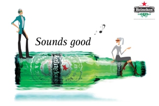 Heineken, Sounds good Wallpaper for Android, iPhone and iPad