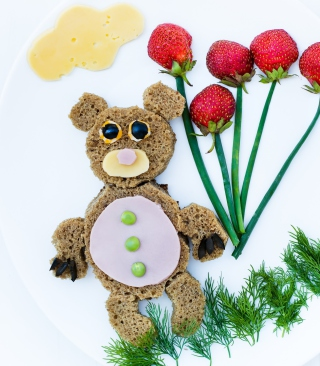 Happy Breakfast Bear Picture for Nokia C1-01