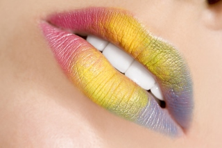 Rainbow Lips Background for Android, iPhone and iPad