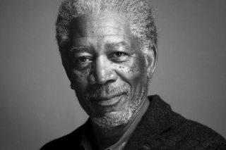 Morgan Freeman Portrait In Black And White Background for Android, iPhone and iPad
