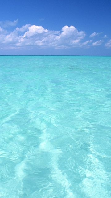 Teal Water And Blue Sky
