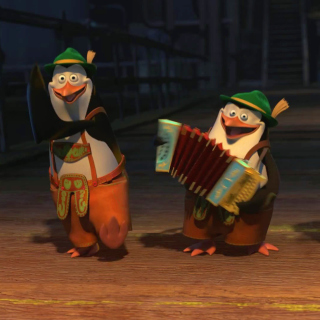 Skipper, Kowalski, and Rico, Penguins of Madagascar Wallpaper for iPad mini
