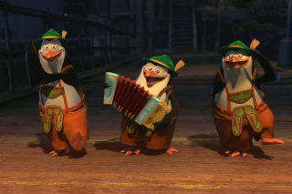 Skipper, Kowalski, and Rico, Penguins of Madagascar - Obrázkek zdarma pro HTC Hero