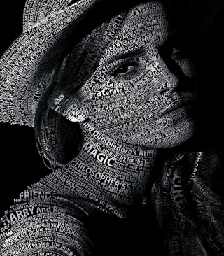Emma Watson Typography Wallpaper for Nokia C1-01
