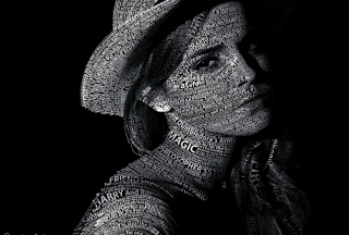Emma Watson Typography Wallpaper for Android, iPhone and iPad