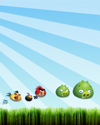 Angry Birds Bad Pigs Wallpaper for iPhone 6 Plus